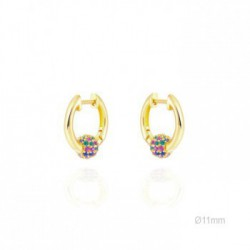 Pendientes Rolling Ball Oro
